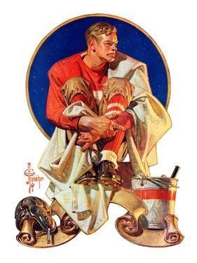 """Football Hero,""November 4, 1933 by Joseph Christian Leyendecker"