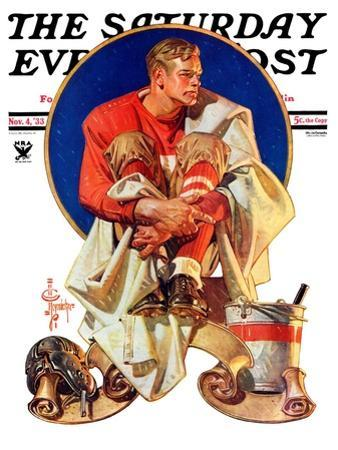 """Football Hero,"" Saturday Evening Post Cover, November 4, 1933 by Joseph Christian Leyendecker"