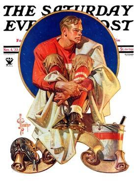 """Football Hero,"" Saturday Evening Post Cover, November 4, 1933 by Joseph Christian Leyendecker"