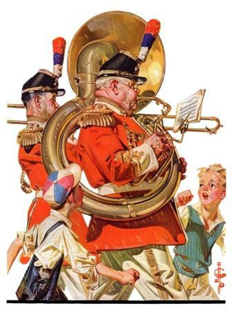 """""""Fourth of July Parade,""""July 1, 1933 by Joseph Christian Leyendecker"""
