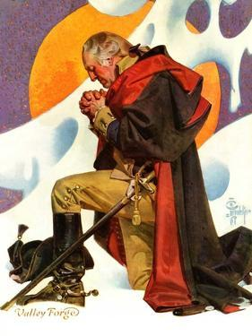 """George Washington at Valley Forge,""February 23, 1935 by Joseph Christian Leyendecker"