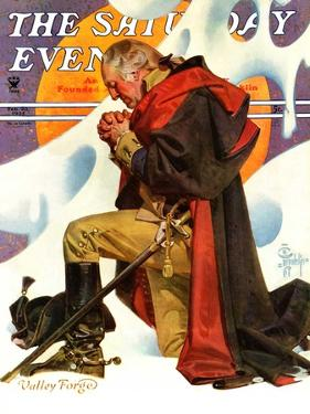 """George Washington at Valley Forge,"" Saturday Evening Post Cover, February 23, 1935 by Joseph Christian Leyendecker"