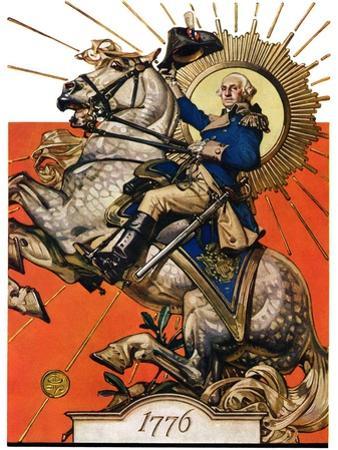 """""""George Washington on Horseback,""""July 2, 1927"""