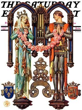 """""""Henry V and His French Bride,"""" Saturday Evening Post Cover, July 26, 1930 by Joseph Christian Leyendecker"""