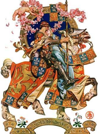 """Knight in Shining Armor,""July 17, 1926 by Joseph Christian Leyendecker"