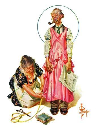 """Living Mannequin,""March 5, 1932 by Joseph Christian Leyendecker"