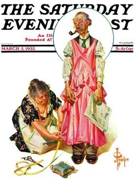 """Living Mannequin,"" Saturday Evening Post Cover, March 5, 1932 by Joseph Christian Leyendecker"