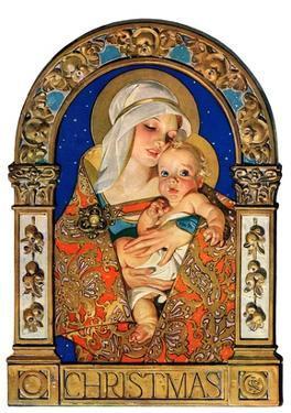 """Madonna and Child,""December 24, 1927 by Joseph Christian Leyendecker"