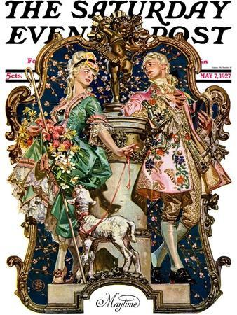 """""""Maytime,"""" Saturday Evening Post Cover, May 7, 1927"""