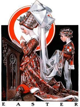 """Medieval Easter,""April 19, 1924 by Joseph Christian Leyendecker"