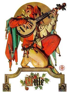 """Musical Jester,""December 26, 1931 by Joseph Christian Leyendecker"