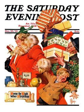 """'Night before Christmas',"" Saturday Evening Post Cover, December 26, 1936 by Joseph Christian Leyendecker"