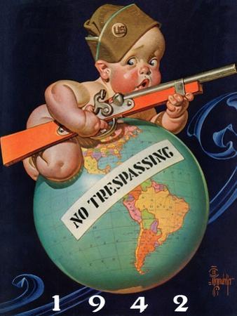 """No Trespassing,"" January 3, 1942 by Joseph Christian Leyendecker"