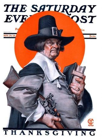 """Pilgrim,"" Saturday Evening Post Cover, November 29, 1924"