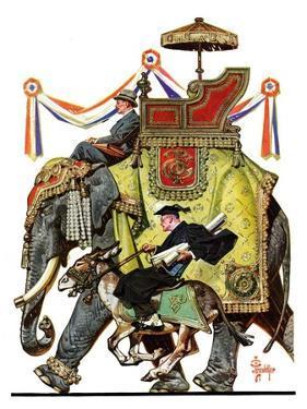 """Political Party Symbols,""October 17, 1936 by Joseph Christian Leyendecker"