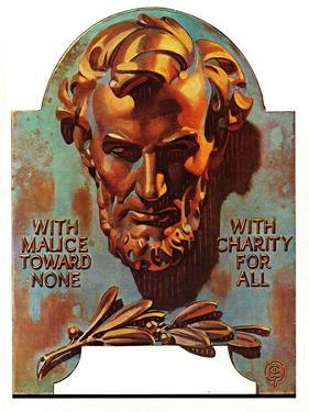 """Re -print of ""Bronze Lincoln"","" February 1, 1976 by Joseph Christian Leyendecker"