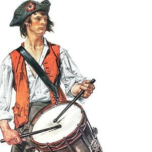 """Re-print of ""Colonial Drummer"","" July/Aug 1976 by Joseph Christian Leyendecker"
