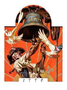"""Ringing Liberty Bell,""July 6, 1935 by Joseph Christian Leyendecker"