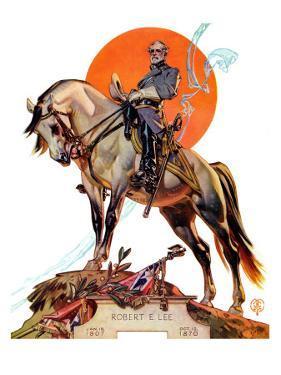 """""""Robert E. Lee on Traveler,"""" January 20, 1940 by Joseph Christian Leyendecker"""