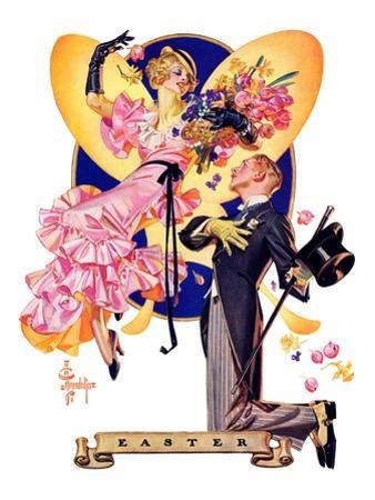 """Romantic Easter,""March 31, 1934 by Joseph Christian Leyendecker"