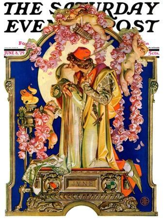 """""""Romeo and Juliet,"""" Saturday Evening Post Cover, June 8, 1929 by Joseph Christian Leyendecker"""
