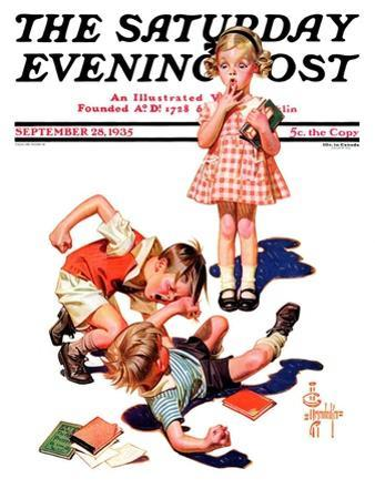 """""""She's My Girl!,"""" Saturday Evening Post Cover, September 28, 1935"""