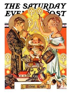 """Silent Night,"" Saturday Evening Post Cover, December 28, 1935 by Joseph Christian Leyendecker"
