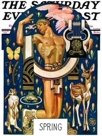 """""""Spring 1929,"""" Saturday Evening Post Cover, March 30, 1929"""