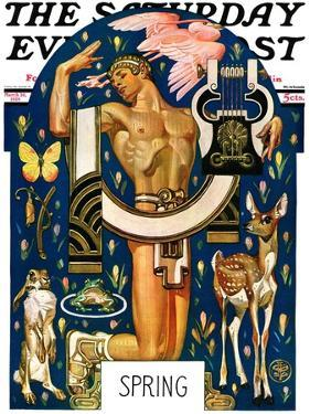 """Spring 1929,"" Saturday Evening Post Cover, March 30, 1929 by Joseph Christian Leyendecker"
