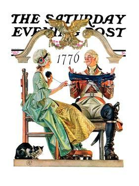 """""""Truce,"""" Saturday Evening Post Cover, July 4, 1931 by Joseph Christian Leyendecker"""