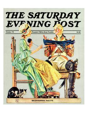 """Truce,"" Saturday Evening Post Cover, October 1, 1975 by Joseph Christian Leyendecker"