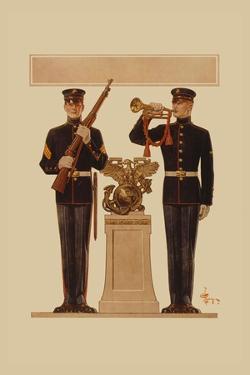 Two Marines by Joseph Christian Leyendecker