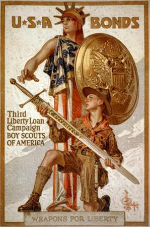 U*S*A Bonds, Third Liberty Loan Campaign, Boy Scouts of America Weapons for Liberty