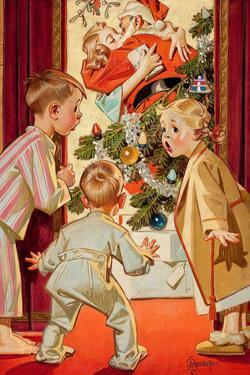 What Is Santa Doing to Mommy? by Joseph Christian Leyendecker
