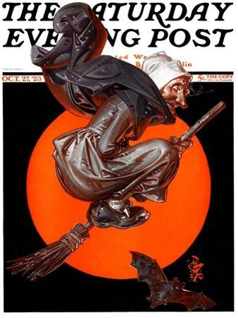 """""""Witches Night Out,"""" Saturday Evening Post Cover, October 27, 1923"""