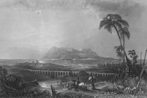 Gibraltar, From Algeziras, 1840 by Joseph Clayton Bentley