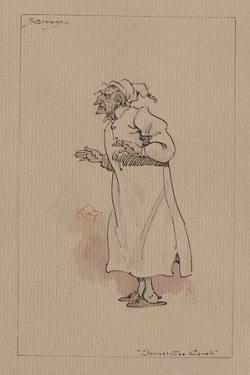 Ebenezer Scrooge - a Christmas Carol, C.1920s by Joseph Clayton Clarke
