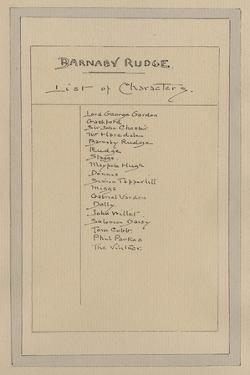 List of Characters for Barnaby Rudge, C.1920s by Joseph Clayton Clarke