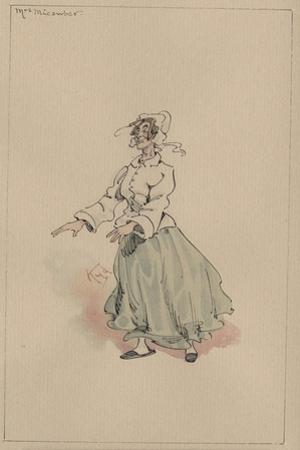 Mrs Micawber, C.1920s by Joseph Clayton Clarke