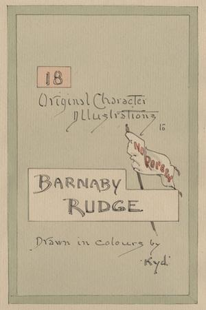 Title Page, Illustrations for 'Barnaby Rudge', C.1920s by Joseph Clayton Clarke