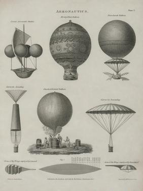 Aeronautics, Early Balloon Designs, c.1818 by Joseph Clement