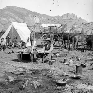 Campsites Among the Foothills, C.1875-1900 by Joseph Collier