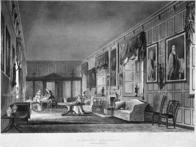 Interior View of Dr Fisher's Apartments, Charterhouse, Finsbury, London, 1816 by Joseph Constantine Stadler