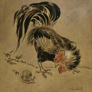 Spanish Cock and Snail by Joseph Crawhall