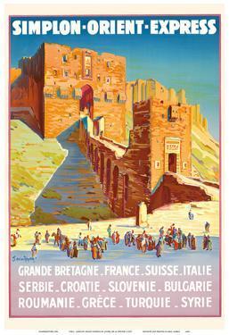 Syria - Simplon Orient Express - Citadel of Aleppo by Joseph de La Nézière