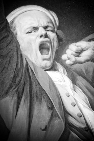 Joseph Ducreux (Self Portrait, Yawning) Art Poster Print