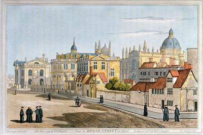 Broad Street, Oxford, Engraving, 1793