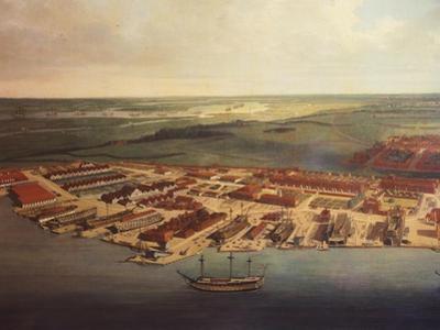 The Royal Dockyard in Chatham, by Joseph Farington, 1785-94
