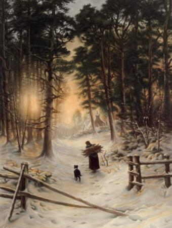 Gathering Winter Fuel by Joseph Farquharson