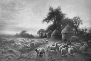 'Sheep Feeding', c1890, (1911) by Joseph Farquharson